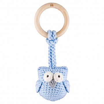 Eco owl teether Blue