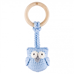 Eco-teether Owl - light blue