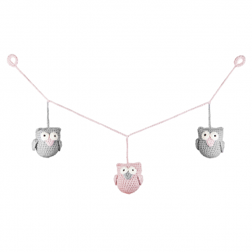 Garland Owls Dusty pink mini