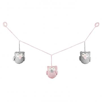 Garland Owls Dusty pink mini