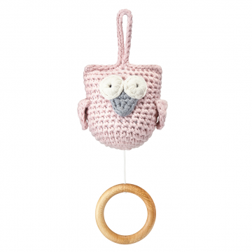 Music box Owl Dusty pink