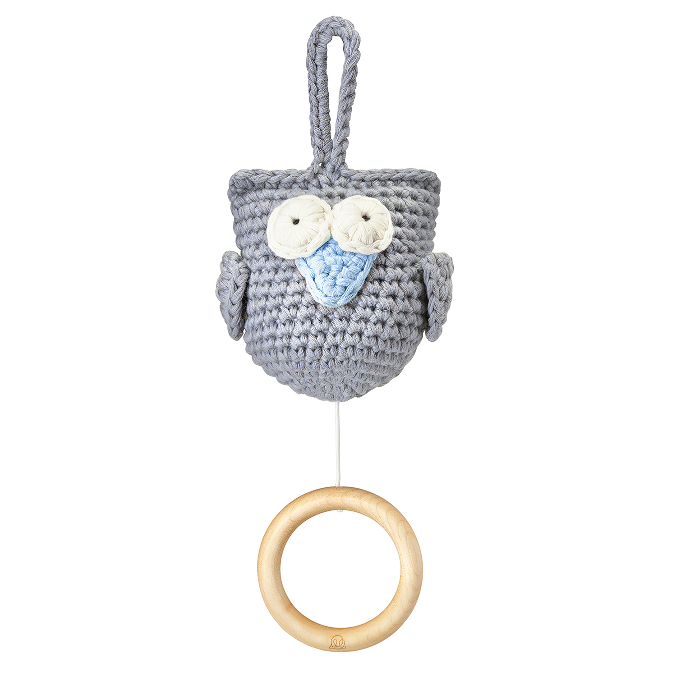 Music box Owl grey - blue