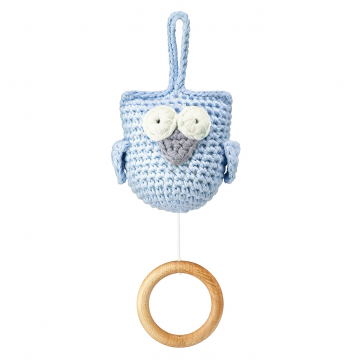 Music box Owl blue