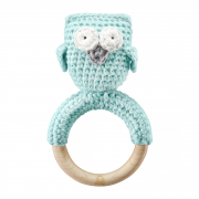 Rattle teether Owl Mint