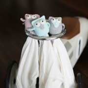Snuggle owl security blanket Mint
