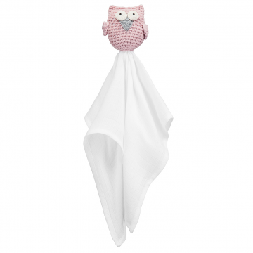 Snuggle toy Owl -  dusty pink