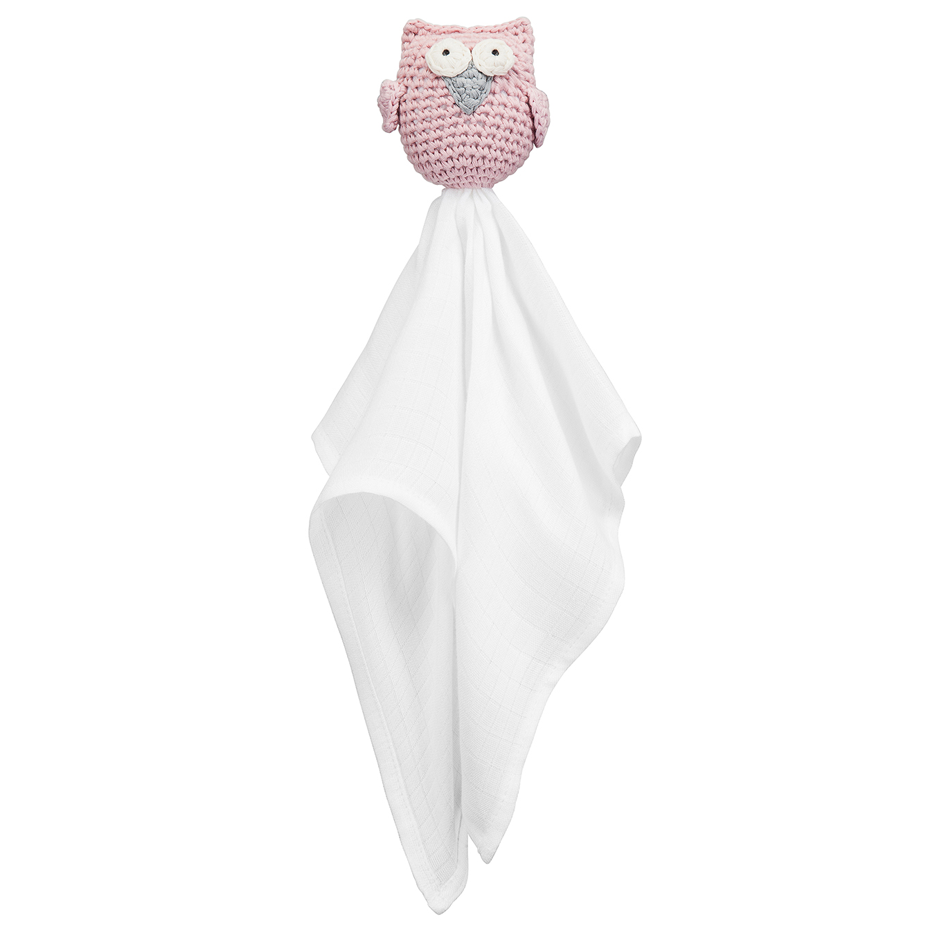 Snuggle owl security blanket Dusty pink