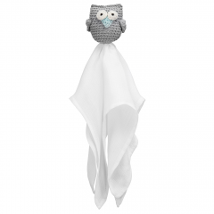 Snuggle owl security blanket Grey mint