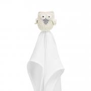 Snuggle owl security blanket Cream