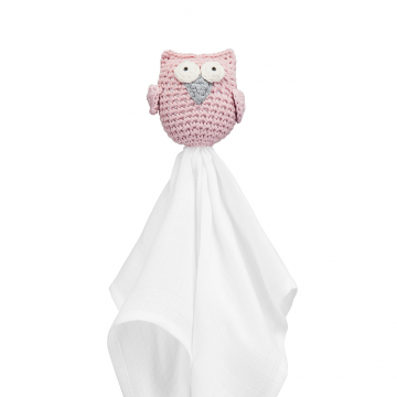 Snuggle owl security blanket XL Dusty pink