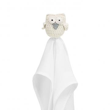 Snuggle owl security blanket XL Cream