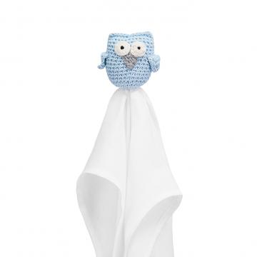 Snuggle owl security blanket XL Blue