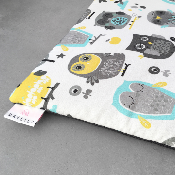 Playing mat 120x120 Grey owls