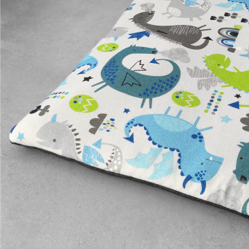 Playing mat 120x120 Dragons blue