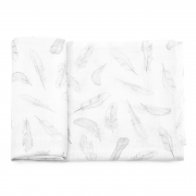 Anti-mosquito bamboo square - Silver feathers