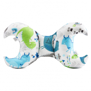 Bamboo antishake pillow Dragons blue