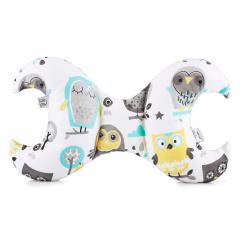 Bamboo antishake pillow - Grey owls