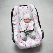 Bamboo car seat cover Blush rain