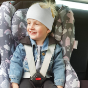 Bamboo car seat cover Heavenly feathers