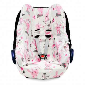 Bamboo car seat cover Bunnies