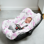 Bamboo car seat cover Grey owls