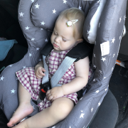Bamboo car seat cover Stars
