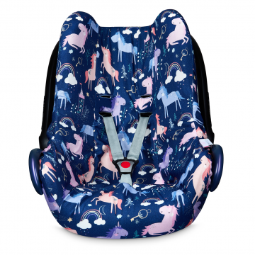 Bamboo car seat cover Unicorns