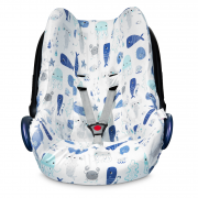 Bamboo car seat cover Sea friends