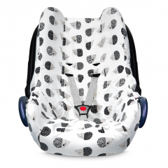 Bamboo car seat cover - Hedgehogs boys