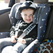 Bamboo car seat cover Hedgehogs boys