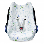 Bamboo car seat cover - Heavenly birds
