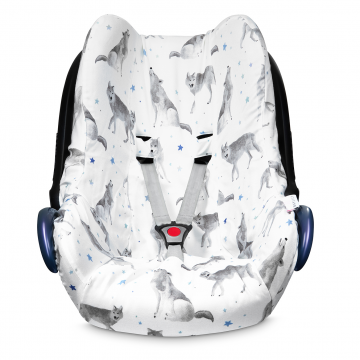 Bamboo car seat cover - Star wolves
