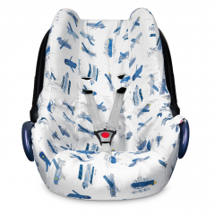 Bamboo car seat cover - Happy planes