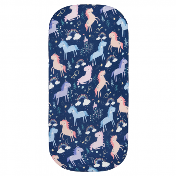 Bamboo pram sheet Unicorns