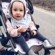 Bamboo stroller pad Paradise feathers