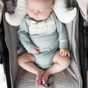 Bamboo stroller pad Heavenly feathers