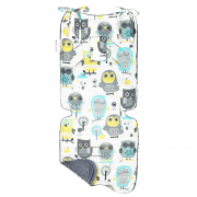 Bamboo stroller pad Grey owls