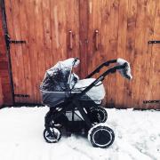 Stroller muff Light grey