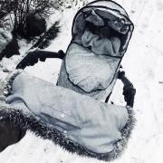 Mufka zimowa SNØ jasnoszara