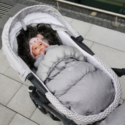 Stroller sleeping bag SNØ 0-24 mo Light grey