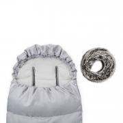 Śpiworek zimowy SNØ 0-24 mcy jasnoszary