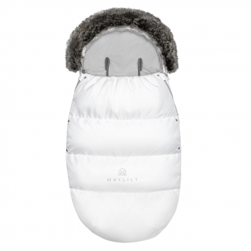 Stroller sleeping bag SNØ 0-24 mo White