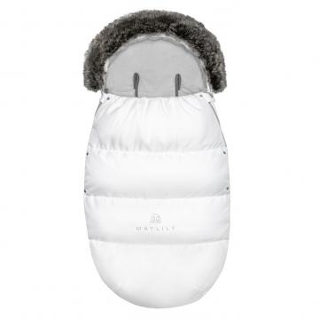 Stroller sleeping bag SNØ 0-24 mo White