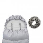 Śpiworek zimowy SNØ 12-48 mcy jasnoszary