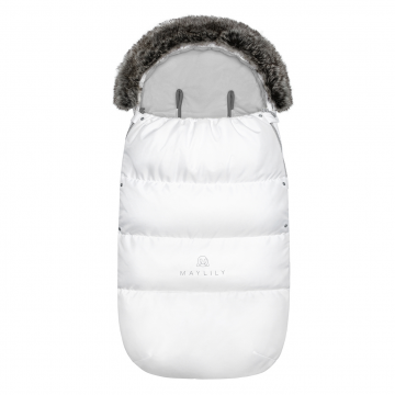 Stroller sleeping bag SNØ 12-48 mo White