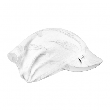 Anti-mosquito visor cap Silver feathers