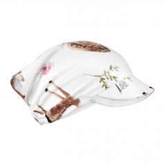 Bamboo visor scarf with elastic - Fawns