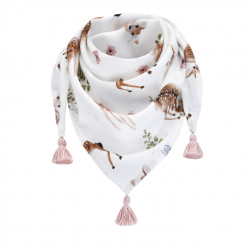 Triangle bamboo scarf Fawns Blush