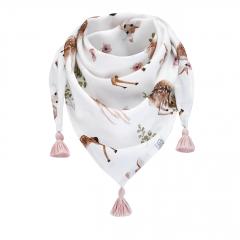 Triangle bamboo scarf Fawns Blush