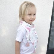 Triangle bamboo scarf Trolls Pink